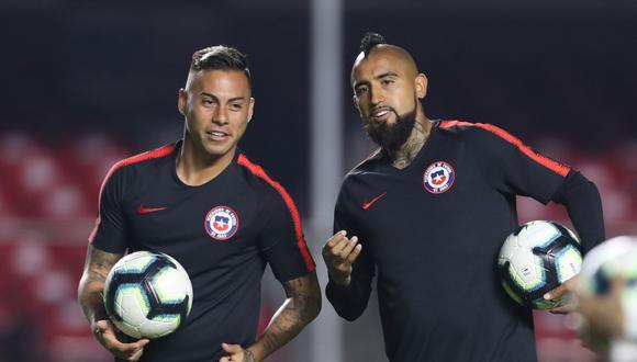 Vargas y Vidal, dos jugadores que han estado en el ojo de la tormenta en Chile. (Foto: Reuters)
