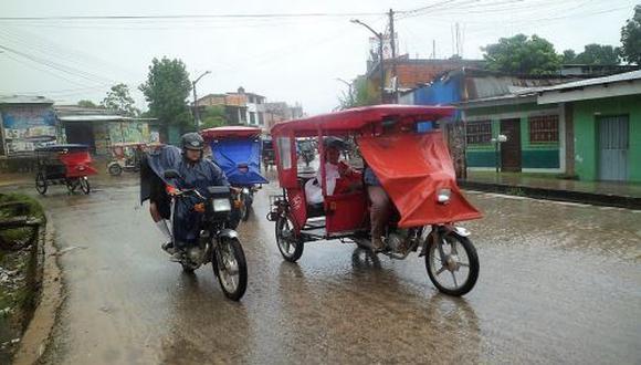 Más de 9 horas de lluvia inunda calles en San Martín. (Foto: Andina)
