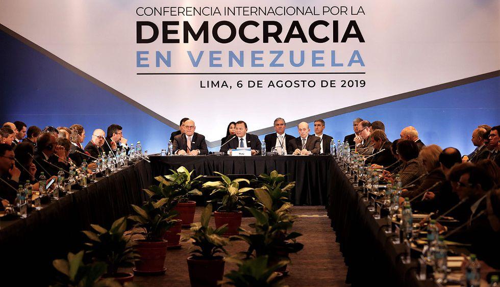 Grupo de Lima se reúne para tratar el caso de Venezuela y el régimen de Nicolás Maduro. /foto: EFE)