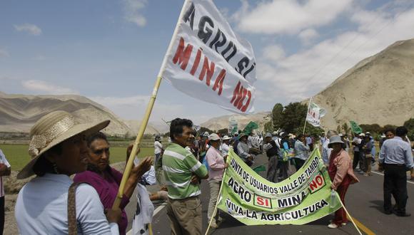 Las protestas en Arequipa se dan por el rechazo al proyecto minero Tía María. (Foto: GEC)