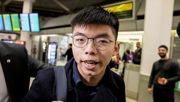 El activista prodemocracia de Hong Kong Joshua Wong llega al aeropuerto de Tegel en Berlín el 9 de septiembre de 2019. (Foto: AFP)