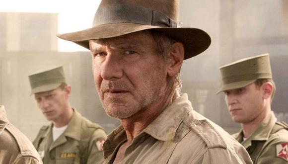 Harrison Ford en la filmación de Indiana Jones (Foto: Lucasfilm)