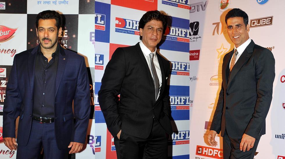 Salman Khan, Shah Rukh Khan y Akshay Kumar completan la lista de los actores mejores pagados, según la revista Forbes. (Foto: Agencias)