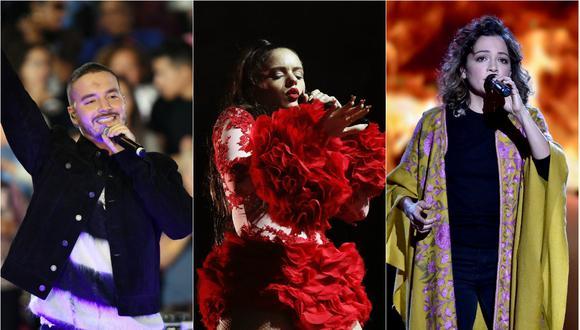 J Balvin, Rosalía y Natalía Lafourcade serán protagonistas de los Latin Grammy 2018 (Foto: Agencias)