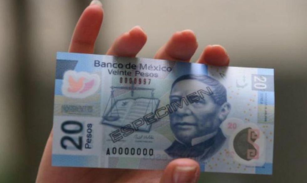 Billete de 20 pesos (Fuente: El Universal de México)