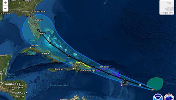 Los gobiernos locales también emitieron avisos de tormenta tropical para Antigua, Barbuda, Islas Vírgenes Británicas, Montserrat, San Cristóbal y Nieves, Guadalupe, Martinica y San Martín. (Foto: Twitter@NWSNHC)