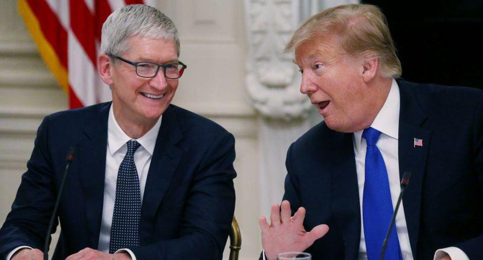 Trump se confunde y llama 'Tim Apple' a Tim Cook, CEO del gigante tecnológico(Foto: Reuters)