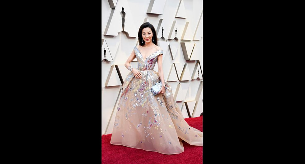 "Michelle Yeoh de ""Crazy Rich Asians"" en la alfombra roja del Oscar 2019. (Foto: AFP)"