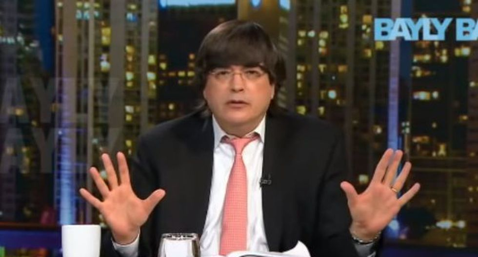 El periodista peruano radicado en Miami, Jaime Bayly. (Video: YouTube)