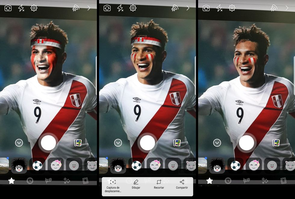 Los efectos que puedes escoger para apoyar a la selección peruana. (Foto: Reuters / Facebook)