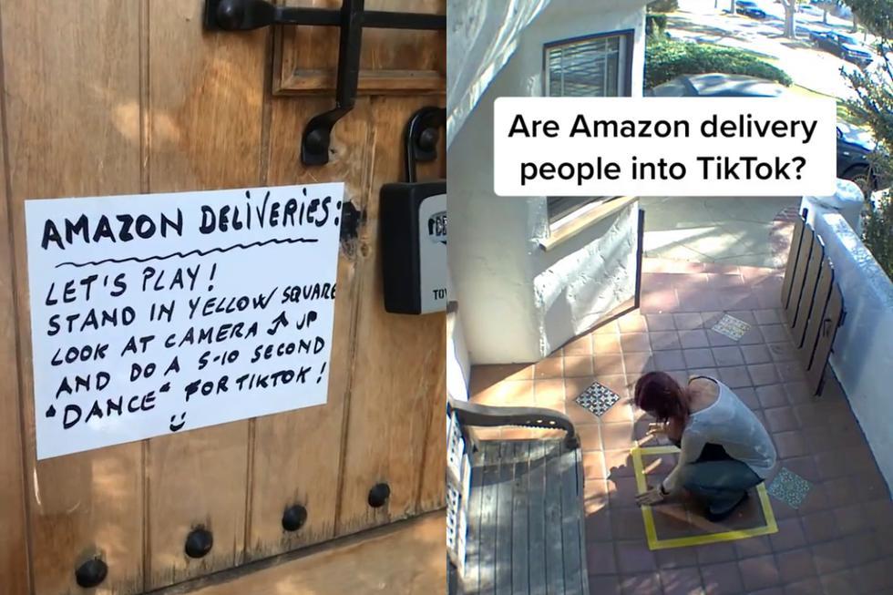 """<b>Una repartidora de Amazon fue más allá de la línea del deber al entregar un paquete en la casa de una cliente.</b> Recientemente, la usuaria de TikTok <a href=""""https://www.tiktok.com/@mohawkdog/video/6897270374149393669"""" target=""""_blank"""">@mohawkdog</a> intentó divertirse un poco con los conductores de la conocida empresa de mensajería que arribaban a la entrada de su vivienda con sus pedidos, colocando un mensaje en su puerta donde los animaba a mostrar sus dotes para el baile solo si estaban de acuerdo."""