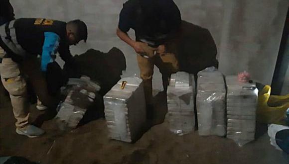 Parte de la droga estaba enterrada en una casa ubicada en Ancón. (Foto: PNP)