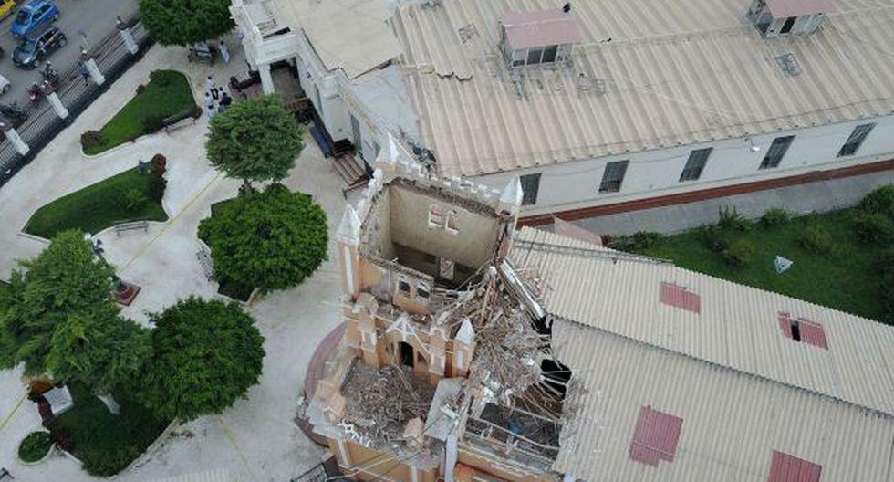 Chiclayo: cúpula de capilla de hospital se desploma por lluvias - 1