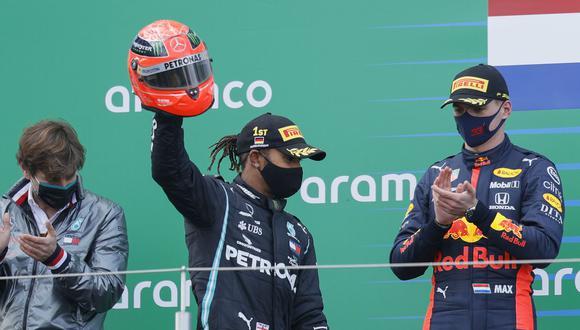 Lewis Hamilton se quedó con el primer lugar del Gran Premio de Efiel. (Foto: AFP)