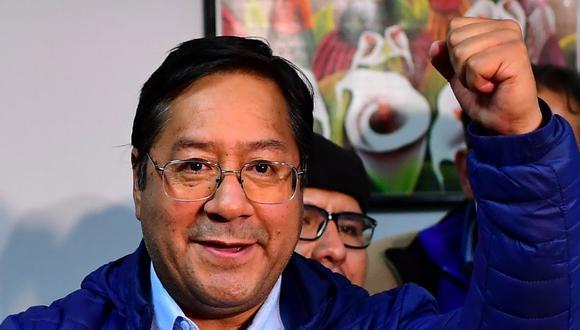 El candidato presidencial izquierdista de Bolivia Luis Arce del partido Movimiento por el Socialismo en La Paz, Bolivia. (Foto: AFP / RONALDO SCHEMIDT).