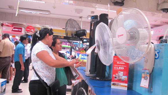 Los precios de los ventiladores van desde los S/39 hasta superar los S/350 los más grandes y de mayores prestaciones. (Foto: GEC)