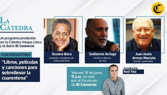 El periodista y escritor Raúl Tola volverá a conducir el conversatorio de este 19 de junio. (Foto: El Comercio)