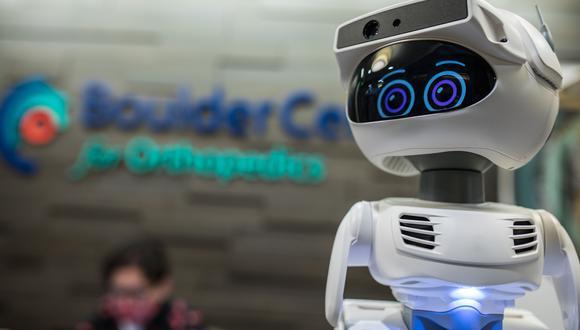 Misty es un robot programable presentado en el CES 2021. (Foto: Allison Moulton / MISTY ROBOTICS / AFP)