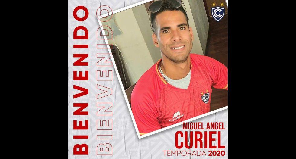 Miguel Curiel procedente de Santiago Morning de Chile. (Foto: Twitter)