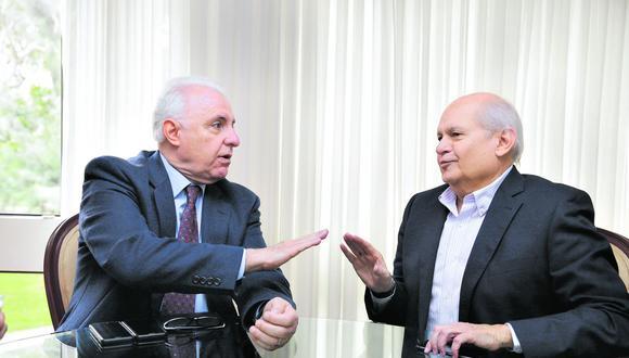Dos expresidentes del Consejo de Ministros evalúan, desde visiones distintas, el actual momento político. ¿Hay alguna posibilidad de desatar los nudos de este momento? (Foto: Alonso Chero/GEC)