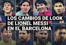 Los cambios de look de Lionel Messi a lo largo de su carrera en el Barcelona