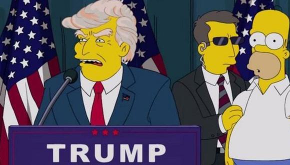 Donald Trump apareció en Los Simpson (Foto: FOX)