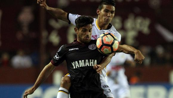 Lanús venció 1-0 a The Strongest y clasificó a cuartos de final de Copa Libertadores. (Foto: Agencias)