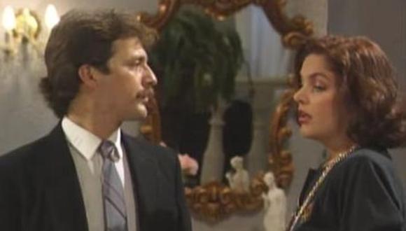 """El romance de ficción entre los personajes de Paul Martin e Hilda Abrahamz en """"Natacha"""", se trasladaron a la vida real. (Captura de pantalla)"""