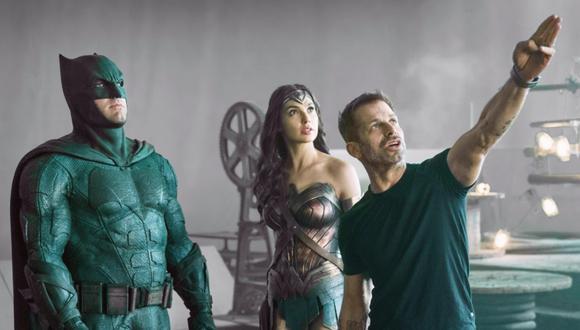 """Zack Snyder con Ben Affleck y Gal Gadot en el set de """"Justice League"""".  (Foto: Warner Bros.)"""