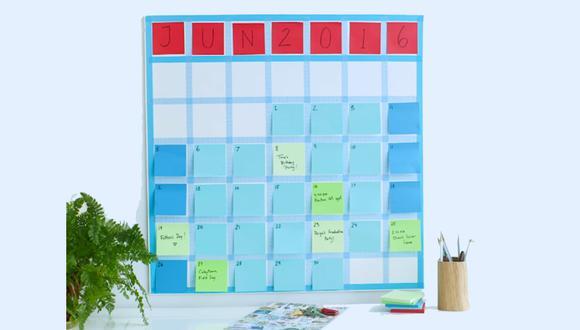 Tu calendario de pendientes ahora puede tener tu toque personal. ¿Qué necesitas? Mucho ingenio y diversos post-it.(Foto: Captura YouTube Martha Stewart)
