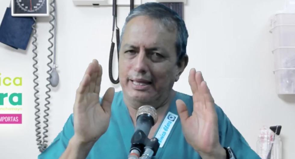"""Gustavo Elera impulsa un """"protocolo"""" para frenar masivamente la expansión del COVID-19. (Foto: Captura)"""