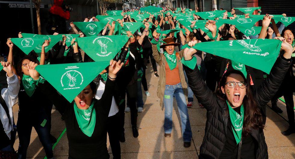 """Activistas de la """"Marea Verde"""" se manifestaron el 28 de septiembre en México, durante el Día Internacional del Aborto Seguro. (Reuters)"""