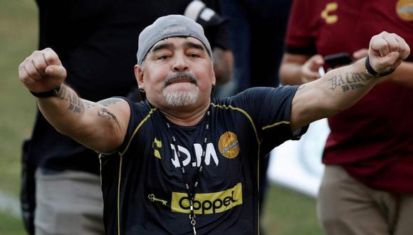El homenaje de Dorados de Sinaloa a Diego Maradona. (Foto: Reuters)