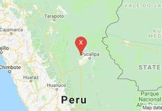 Ucayali: Sismo de 4,2 grados se sintió esta noche en Curimana