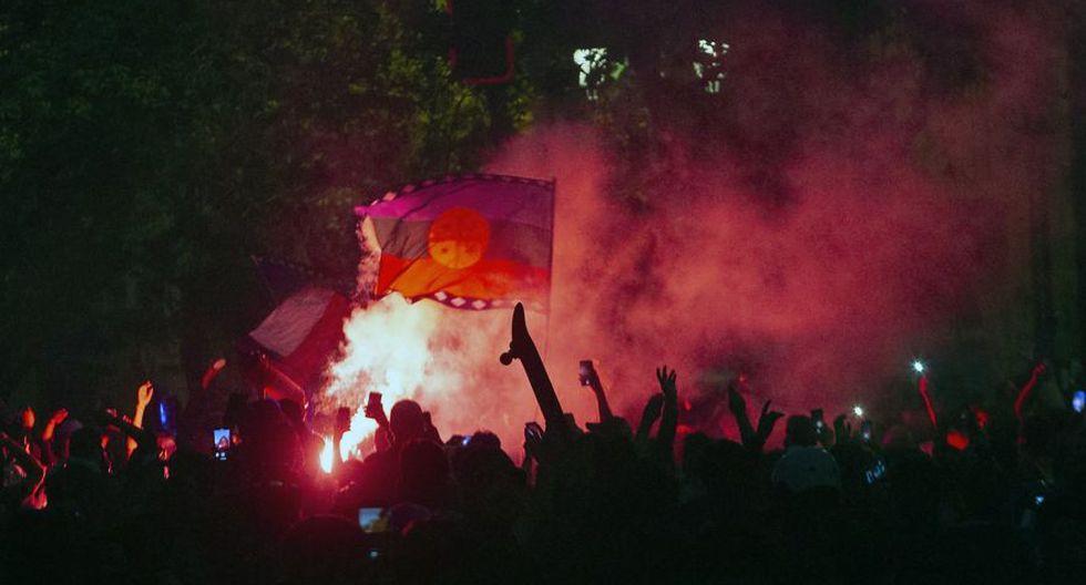 Los manifestantes se congregaron en los alrededores de La Moneda. (Foto: AFP)