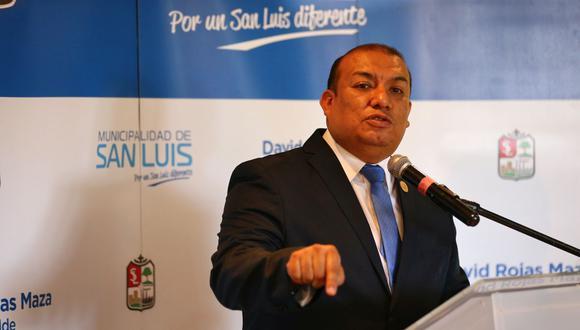 El alcalde David Rojas Maza asegura que no intervino en la contratación de Ana Cristina Roque Alanya en el municipio de San Luis. (Foto: Hugo Curotto/GEC)