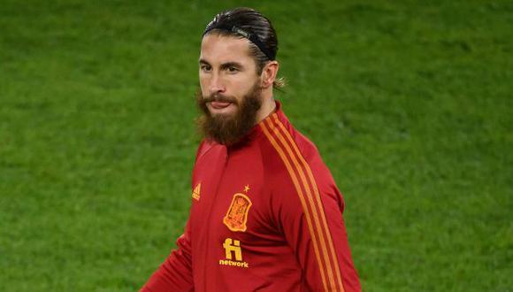 Sergio Ramos llegó a los 177 partidos con camiseta de su país. (Foto: AFP)