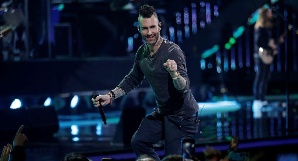 """La banda estadounidense Maroon 5 fue criticada por una supuesta """"falta de entrega"""" en el Festival Viña del Mar 2020. Foto: AFP."""