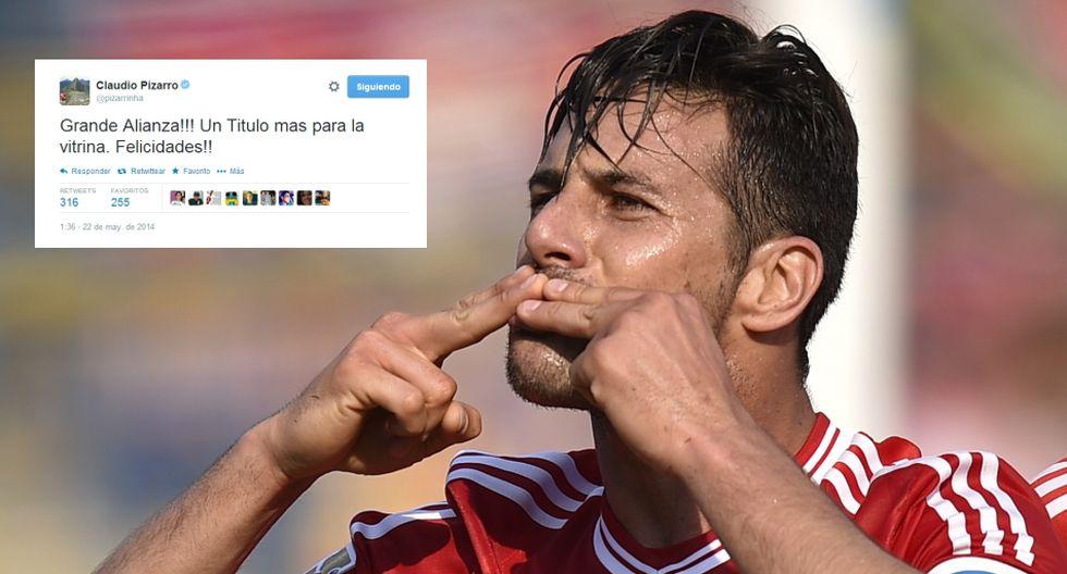 Claudio Pizarro y otros ex íntimos felicitan a Alianza en redes - 1