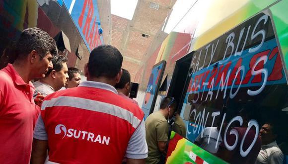 Luego del fatal incendio en Fiori, Sutran realizó una operación en el Terminal Marco Polo, ubicado en San Martín de Porres (Foto: Sutran)