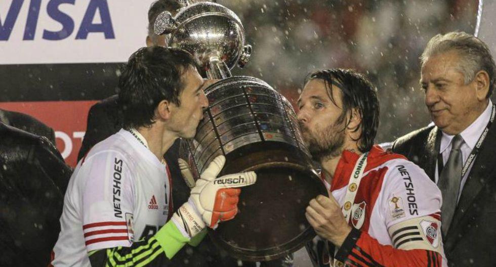 Con goles deLucas Alario,Carlos Sanchezy Ramiro Funes Mori River Plate se hizo con la Copa en el 2015. (Foto: EFE)