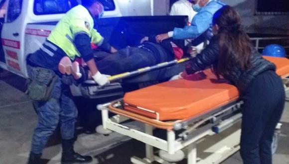 Áncash: Pedro Monzón Velásquez, conductor del volquete, fue trasladado de emergencia al Hospital La Caleta de Chimbote. (Foto: Seguridad Ciudadana Chimbote)