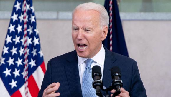 El presidente de Estados Unidos, Joe Biden, habla sobre el derecho al voto en el National Constitution Center en Filadelfia, Pensilvania, el 13 de julio de 2021. (Foto de SAUL LOEB / AFP).