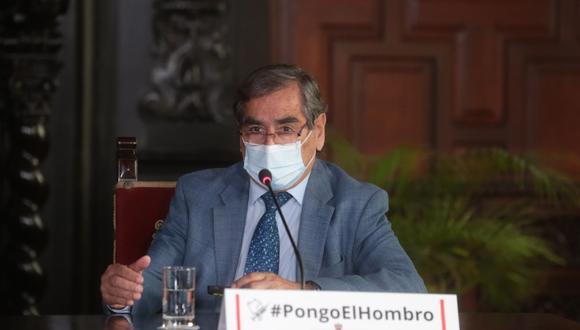 Ugarte Ubilluz exhortó a la ciudadanía a participar de la jornada de vacunación y Destacó la importancia de la aplicación de dosis a una persona. (Foto: PCM)
