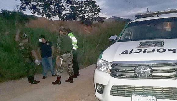 Junín: Uno de los ocupante le disparó a quemarropa al agente, cuando se acercó a ellos y les pidió sus documentos. (Foto: PNP)