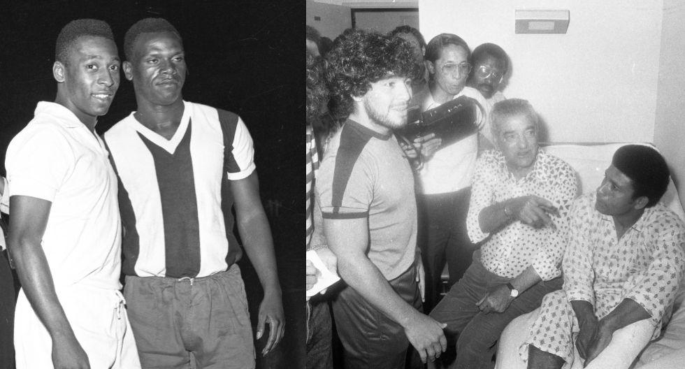 Pelé con Perico y Maradona visitando a Chumpitaz. (Fotos: Archivo Histórico El Comercio)