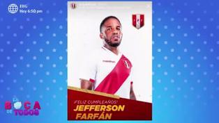 Jefferson Farfán celebra su cumpleaños número 36 en compañía de su familia