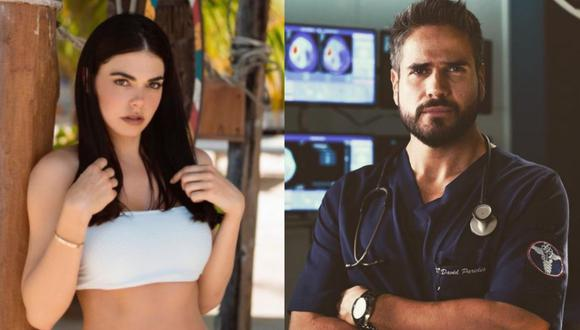"""Los actores protagonizaron la telenovela """"Médicos, línea de vida"""" en 2019 (Foto: Livia Brito / Daniel Arenas / Instagram)"""