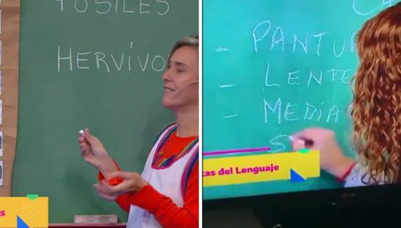 "Diferentes profesoras han tenido errores ortográficos en el programa ""Seguimos educando"". (Captura de pantalla / Twitter / YouTube)."