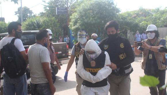 A los detenidos se les encontró responsabilidad en las presuntas actividades de extracción ilegal, transporte y comercialización de productos forestales maderables. (Foto: Manuel Calloquispe)